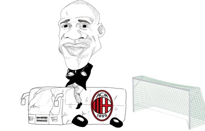 Seedorf come Mourinho? Macché! (caricatura di Simone Parisi)