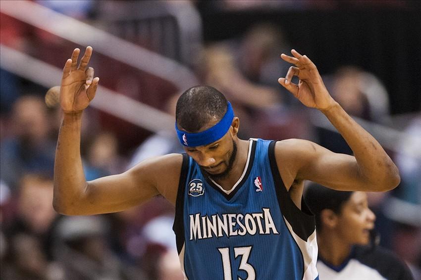 Corey Brewer con la maglia di Minnesota
