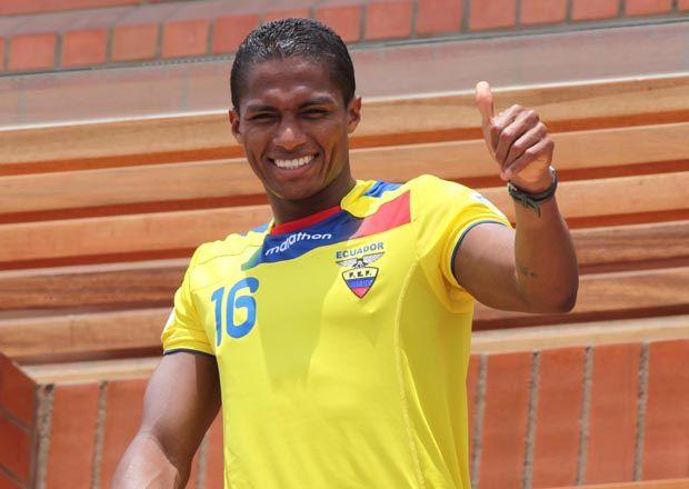 Antonio Valencia con la maglia dell'Ecuador