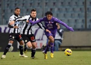 Praticamente ufficiale il riscatto di Cuadrado dall'Udinese, il giocatore sarà al 100% della Fiorentina.