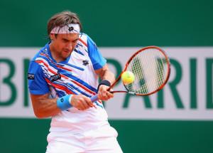 David Ferrer, riuscito nell'impresa di eliminare il favorito del torneo Rafa Nadal.