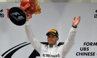 Hamilton vince il Gp di Cina davanti a Rosberg e Alonso