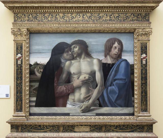 """Giovanni Bellini, """"Pietà"""", 1465-1470, Milano, pinacoteca di Brera"""