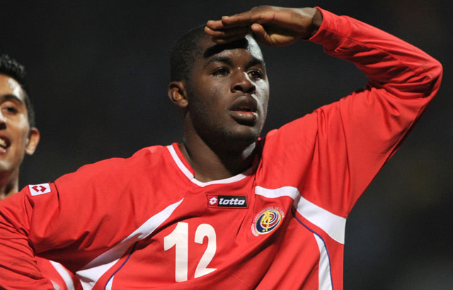 Joel Campbell, attaccante dell'Olympiacos Milan