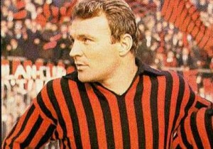 Josè Altafini con la maglia del MIlan