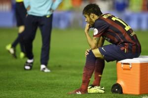 Il brasiliano Neymar deluso dopo la sconfitta