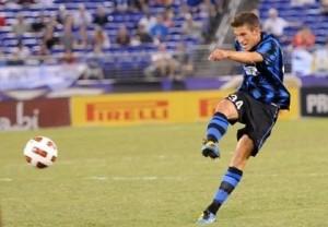 Cristiano Biraghi, qui con la maglia dell'Inter