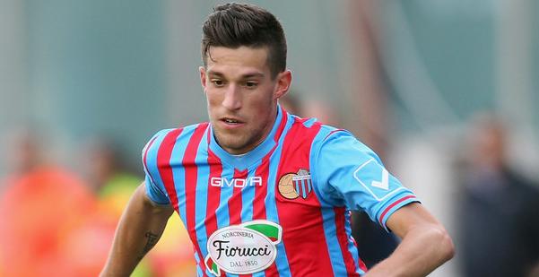 Cristiano Biraghi con la maglia del Catania