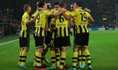 Vittoria in rimonta del Dortmund che batte il Wolfsburg grazie a Lewandowski e Reus.