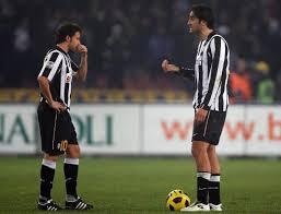 Toni e Del Piero con la maglia della Juventus