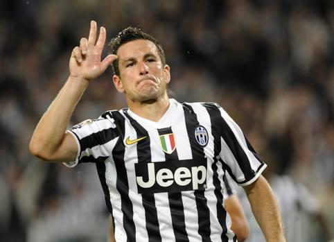 Padoin, con la maglia della Juventus