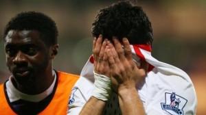 Luis Suarez in lacrime