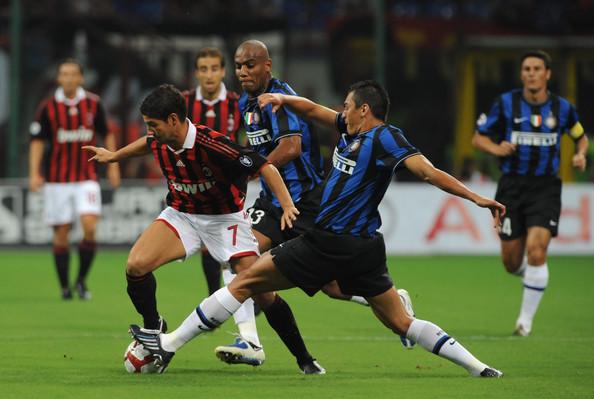 Un'immagine tratta dal Milan-Inter del 29 agosto 2009