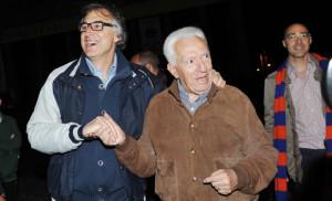 Gilardi e Timo durante una festa per il Banco Roma