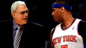 Carmelo Anthony e Phil Jackson