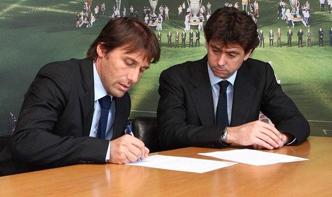 Conte firma il contratto con Agnelli