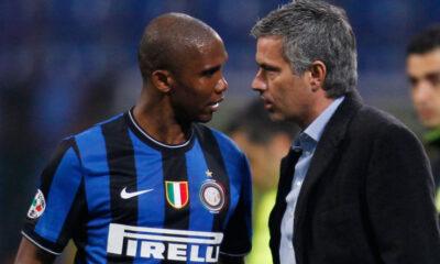 Eto'o a colloquio da Mourinho, Inter
