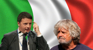 Matteo Renzi e Beppe Grillo: Piero Pelù li unisce e li divide