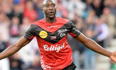 Yatabarè, attaccante del Guingamp autore del 2-0 contro il Rennes