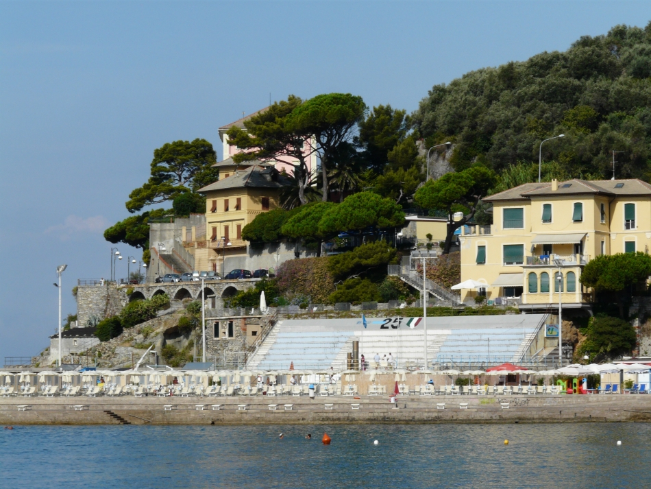 La piscina di Punta Sant'Anna a Recco