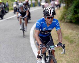 Julian Arredondo sulle rampe del Giro