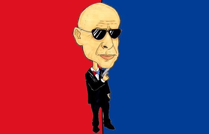 L'agente segreto Ballardini (caricatura di Simone Parisi)