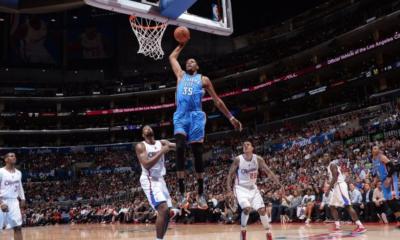 Durant trascina Oklahoma nella vittoria sui Clippers che pareggia la serie.