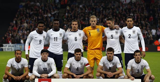 La nazionale di calcio dell'Inghilterra.