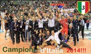 Alberto Giuliani festeggia lo scudetto con Macerata