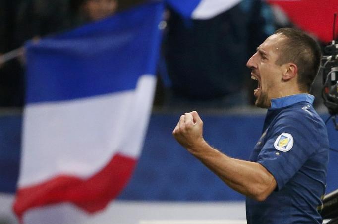 Franck Ribery con la maglia della Francia.