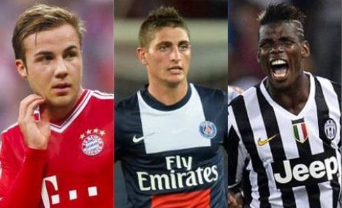 Gotze, Verratti e Pogba: tre dei migliori Under 21 della stagione 2013/2014