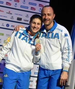 Rossella Gregorio col commissario tecnico Sirovich