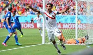Bryan Ruiz, attaccante del Costa Rica. La nazionale centroamericana è stata la grande sorpresa degli ultimi Mondiali