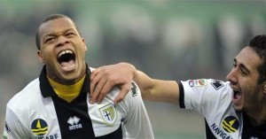 Biabiany e Belfodil, entrambi ex Inter, con la maglia del Parma