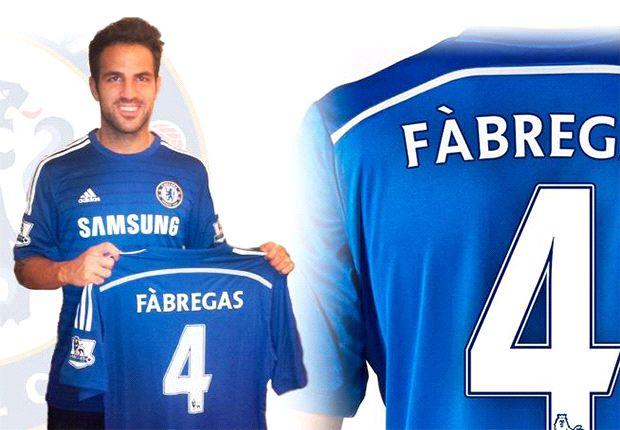 Fabregas ora con la maglia del Chelsea