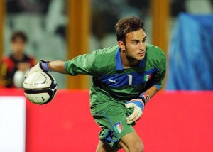 Francesco Bardi, portiere titolare dell'under 21 italiana