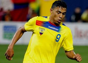 Jefferson Montero con la maglia della Nazionale Ecuadoregna