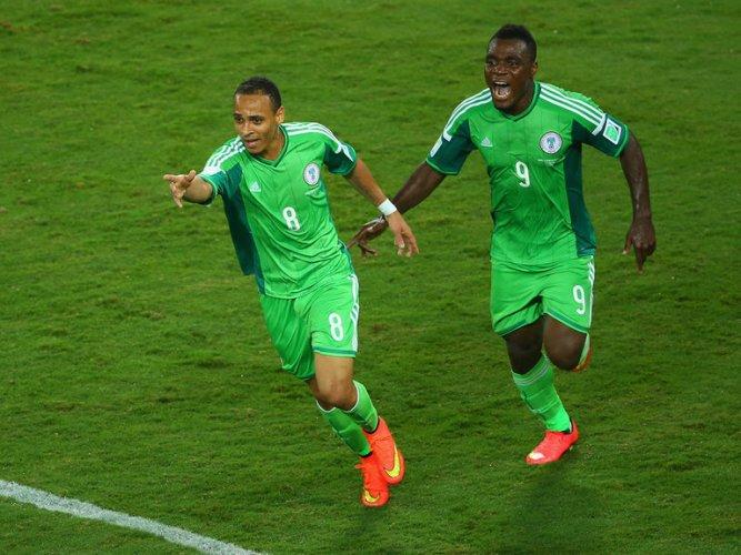 Odemwingie esulta con la Nigeria