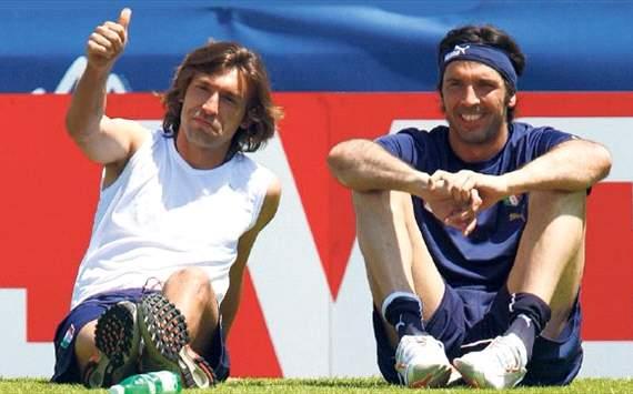 Pirlo e Buffon, le stelle dell'Italia