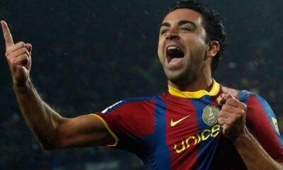 Xavi, fuoriclasse del Barcellona.