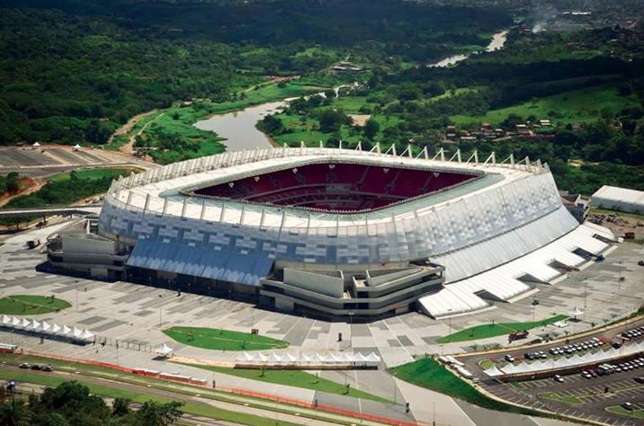 Vista dell'Itaipava Arena Pernambuco di Recife.