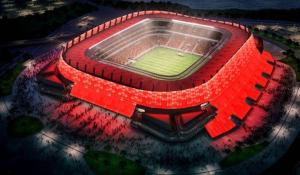 Vista aerea della splendida Arena Pernambuco.