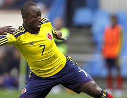Pablo Armero, autore del primo gol della Colombia