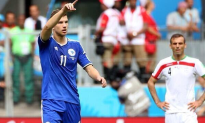 Dzeko a segno nella prima vittoria della Bosnia in un Mondiale, ottenuta contro l'Iran