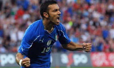 Mondiali 2010: Quagliarella esulta dopo un magnifico gol alla Slovacchia