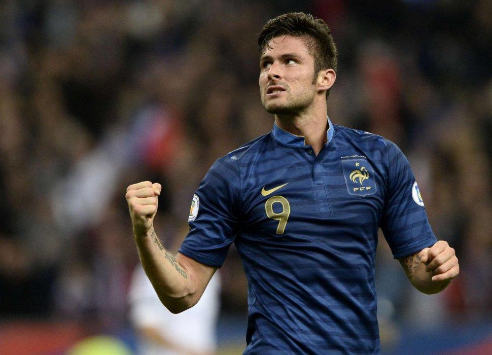 Giroud con la maglia della Francia