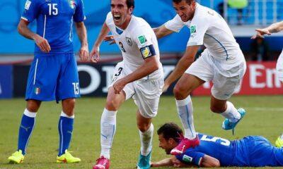 Un gol di Diego Godin elimina l'Italia dal Mondiale