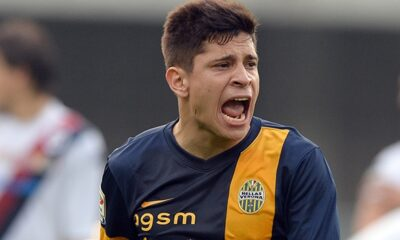 L'attaccante della Roma Juan Manuel Iturbe
