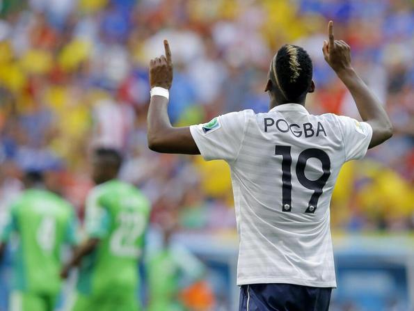 Pogba a segno nel 2-0 della Francia contro la Nigeria