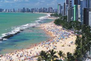Panorama su Boa Viagem, una delle meravigliose spiaggie di Recife.